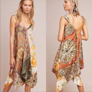 TINY Anthropologie Sebou Scarf-print Dress, XS